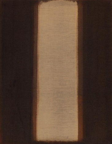Yun Hyong-keun. Burnt Umber & Ultramarine, 1978, 142 x 110 cm. Courtesy of YUN HYONG-KEUN Estate and PKM Gallery.