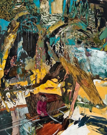 Hernan Bas. The Horticulturalists Dream (new species), 2012.Acrylic and silkscreen on linen, 152.4 x 122 cm.Courtesy of the artist & PKM Trinity Gallery.