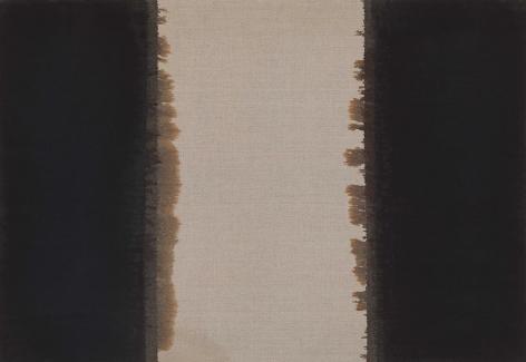 Yun Hyong-keun. Burnt Umber & Ultramarine, 1991, Oil on linen, 50.4 x 72.3 cm. Courtesy of the artist & PKM Gallery.