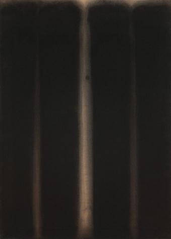 Yun Hyong-keun, Umber-Blue, 1975, Oil on cotton, 90.8 x 65.5 cm. Courtesy of the artist & PKM Gallery.