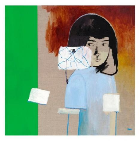 Hyunjin Bek. Sound, 2018, Oil on linen, 93 x 93 cm. Courtesy of the artist & PKM Gallery.