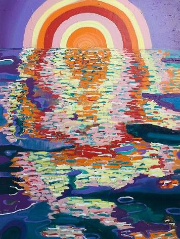 PHILIP HINGE Half Full 2013, acrylic on canvas, 50 x 36 inches