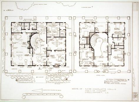 MARK BENNETT  Home of Charlotte Hollis (Hush, Hush, Sweet Charlotte)  2003, ink on Vellum, 30 x 42 inches