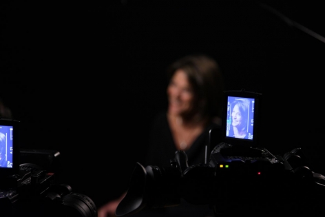 LINCOLN SCHATZ The Network (generative portraits) 2012, generative digital portraits of 89 American innovators, custom software, computer, LCD screen, dimensions variable.