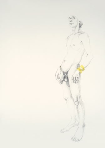 ZOË CHARLTON Untitled 2 (from Paladins and Tourists) 2010, graphite and gouache on paper, 93 x 69 inches (framed)