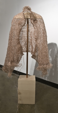 EMILY BIONDO Shrouded 2010, 3000' of speaker wire, audio, ipod, 65 x 32 inches