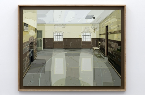 JULIE ROBERTS Workhouse (Male Ward) 2012, oil on linen, 43.15 x 54.96 inches