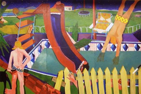PHILIP HINGE Sunburn 2010, acrylic/mixed media on canvas, 96 x 144 inches