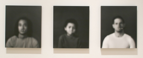 AZIZA MURRAY Mulatto, Half Breed, High Yellow (triptych) 2009, silver gelatin print, 19 1/2 x 23 inches (each),