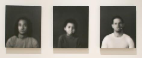 AZIZA MURRAY Mulatto, Half Breed, High Yellow (triptych) 2009, silver gelatin print, 19 1/2 x 23 inches (each),