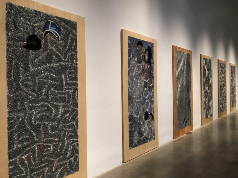 WILMER WILSON IV  works from staple series, Installation view: New Museum Triennial 2018