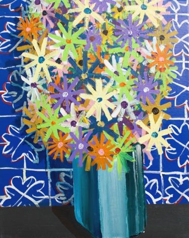 PHILIP HINGE Flowers for Hours 2013, acrylic on canvas, 30 x 24 inches
