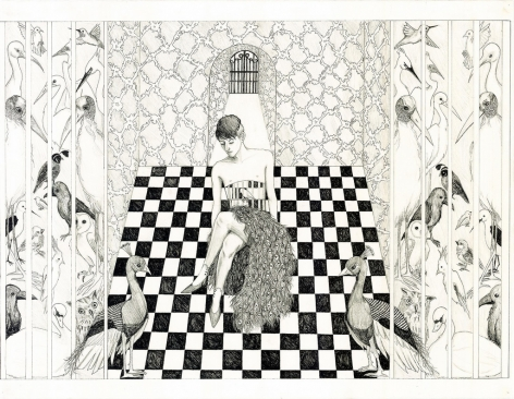 BRITT LAW Distinct Anatomies 2012, ink and graphite on paper, 22 x 29 inches