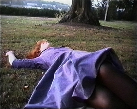 Susan MacWilliam  Faint (video still)  1999, color video, stereo, run time: 3:40, ed: 5 + 2AP.