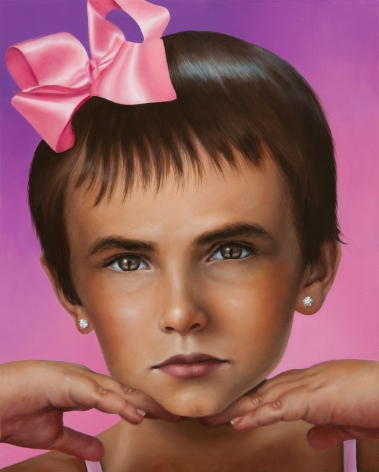 KATIE MILLER Portrait of Quinn as the Rose Madder Queen 2012, oil on panel, 10 x 8 inches