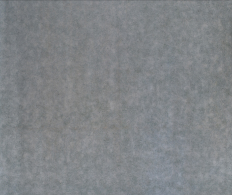 HOWARD MEHRING Untitled (gray all-over) c.1960-1962, magna on canvas, 108 x 118 inches.