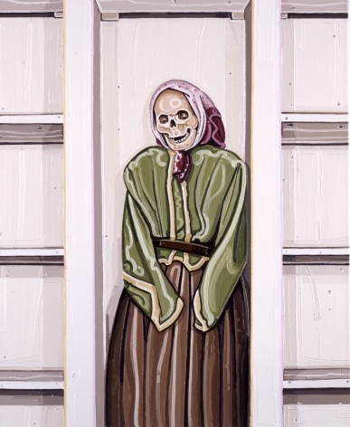 JULIE ROBERTS Granny, oil on canvas, 21.65 x 18.11 inches