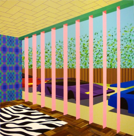 MICHAEL DOTSON Dream House Interior 2010, acrylic on canvas, 48 x 48 inches
