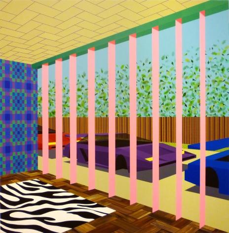 MICHAEL DOTSON Dream House Interior 2010, acrylic on canvas, 48 x 48 inches