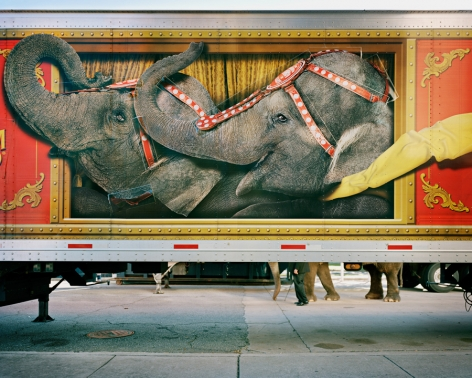 KYLE FORD The Greatest Show on Earth, Parking Lot, Savannah, GA 2009, archival inkjet print, 32 x 40 inches (framed)