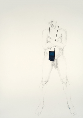 ZOË CHARLTON Untitled 3 (from Paladins and Tourists) 2010, graphite and gouache on paper, 93 x 69 inches (framed)