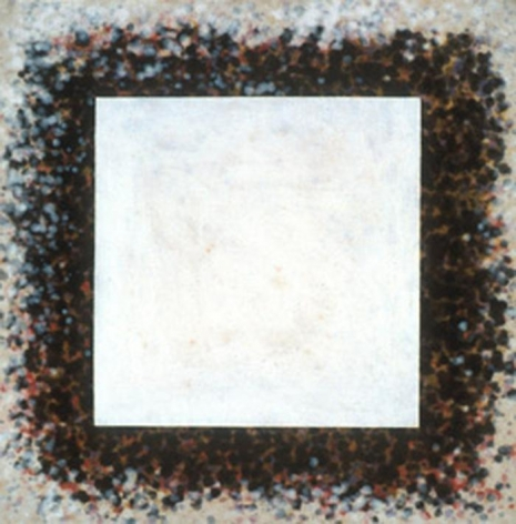 HOWARD MEHRING Untitled 1961, magna on canvas, 29 x 28.5 inches