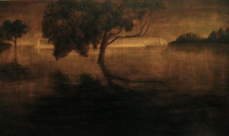 DEBORAH ROCK August 2005 #4 2007, oil on canvas, 3 x 5 feet