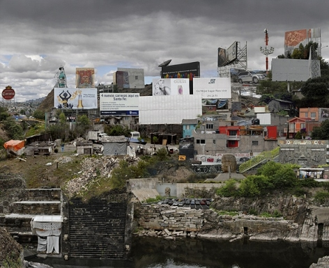 JULEE HOLCOMBE The Border (Suburbios de Ciudad de Mexico) 2008, c-print, 36 x 45 inches