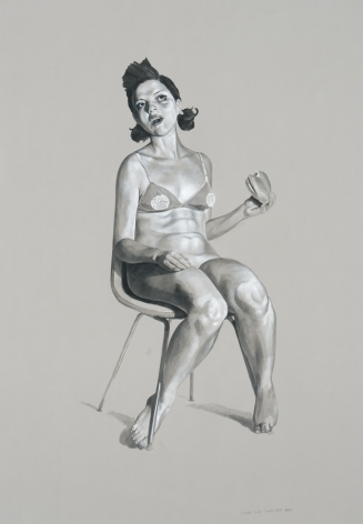 ERIK THOR SANDBERG Study for Glutt Her Maw 2007, graphite and gouache on paper, 41 x 29 inches.
