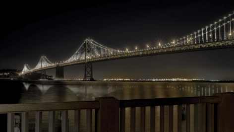 Leo Villareal The Bay Lights light emitting diodes, custom software Site specific installation: The Bay Bridge, San Francisco, CA