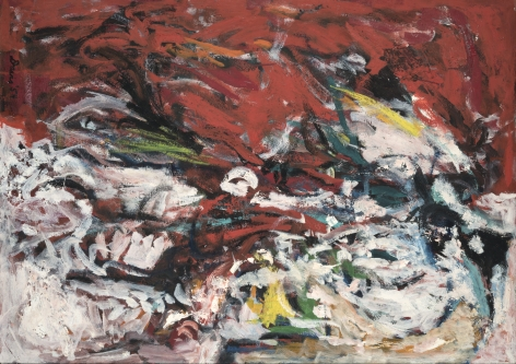 Gene Davis  Untitled  1954, oil on masonite, 30 x 42 inches.