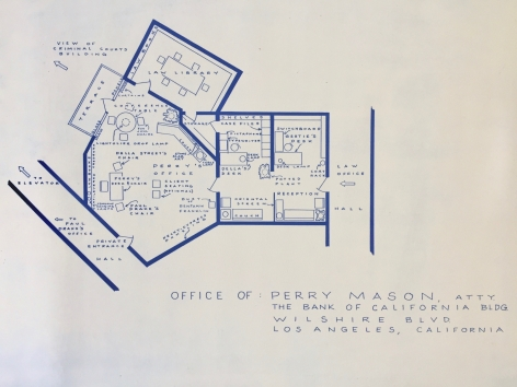 Mark Bennett  Office of Perry Mason  1995, lithograph, 24.25 x 36.25 inches, AP 2.