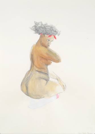 ZOË CHARLTON Cousin (study) 2008, graphite and gouache on paper, 52 x 72 inches.