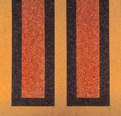 HOWARD MEHRING Cadmium Double 1963, magna on canvas, 76.5 x 79 inches