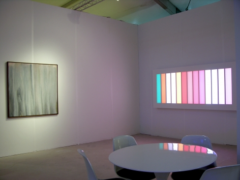 LEO VILLAREAL and HOWARD MEHRING  ABSTRACTION 1958 / 2013  2013. Installation view: booth B21, Art Miami