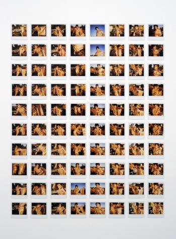 JEREMY KOST Flowers Bloom in the California Sun (Rainblo) 2009, 80 original Polaroids, 47 x 37.5 inches overall.