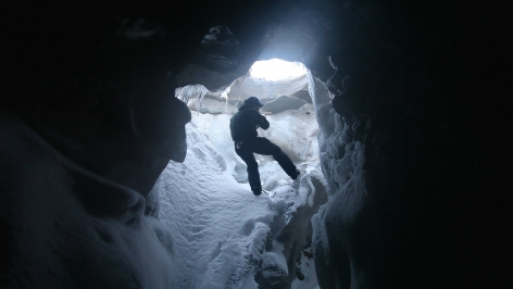JANET BIGGS In the Cold Edge (video still, from Arctic Trilogy)