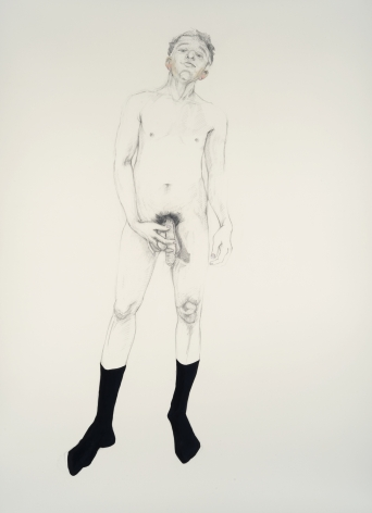 ZOË CHARLTON Untitled 8 (from Paladins and Tourists) 2010, graphite and gouache on paper, 93 x 69 inches (framed)