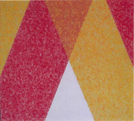 Howard Mehring  Vertex  1961, acrylic on canvas, 49 x 45 inches.