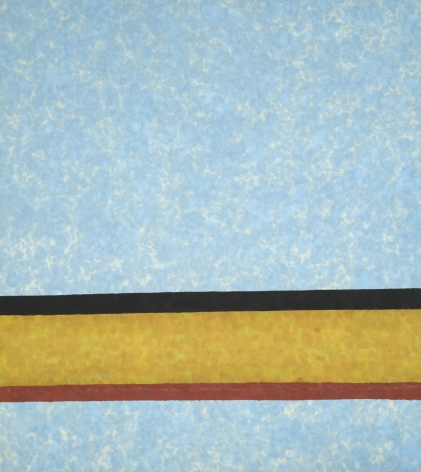 Howard Mehring  Blue Section  1961, acrylic on canvas, 51 x 46 inches.