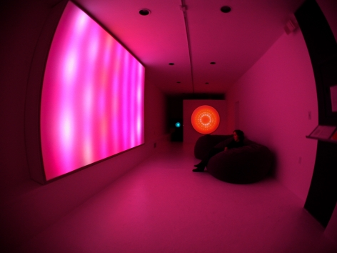 LEO VILLAREAL  Digital Light Sculpture  2002. Installation view: CONNERSMITH.