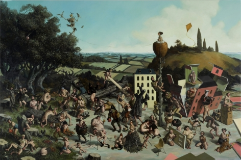 ERIK THOR SANDBERG Thing of Ruin 2010, oil on panel, 48 x 72 inches