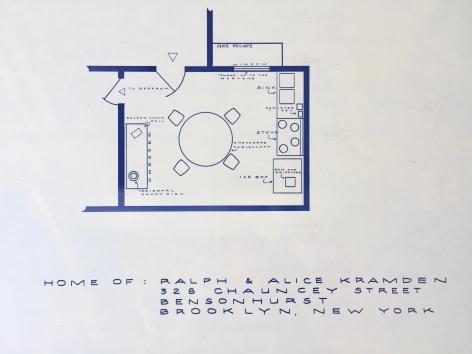 MARK BENNETT Home of Ralph & Alice Kramden (The Honeymooners) lithograph, 24 x 36 inches