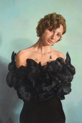ERIK SANDBERG Concession I 2007, oil glaze on canvas, 66 x 44 inches.