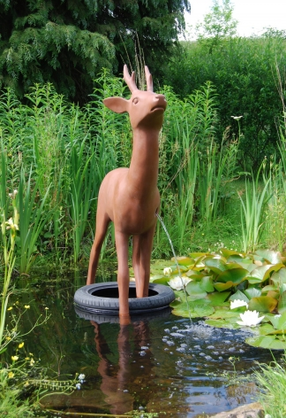 KENNY HUNTER Like Water in Water resin, 35.4 x 59 x 23.6 inches sculpture
