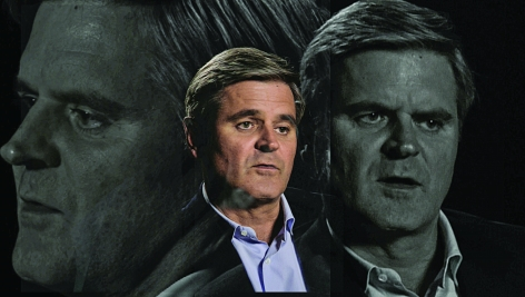 LINCOLN SCHATZ The Network (Steve Case) 2012, face-mounted pigment print, 16.75 x 30 inches