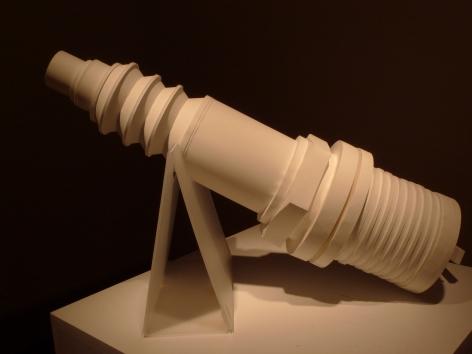 CHIE IWASAKI Spark Plug 2010, paper, foam board, 12 x 32 inches