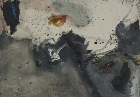Gene Davis  Yellow Square  c.1958, acrylic on canvas, 14 x 20 inches.