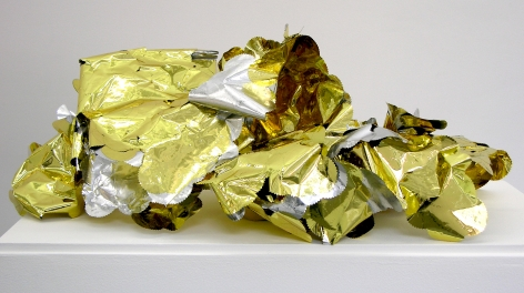 WILMER WILSON IV  Shed Skin (Authentic/DC Notary)  2012, foil, adhesive, DNA, dimensions variable