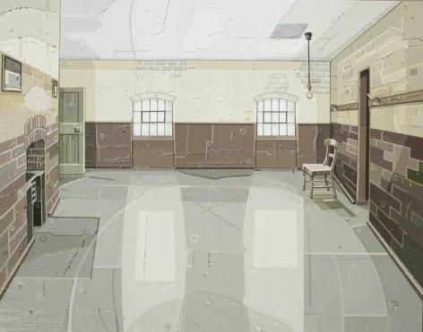 JULIE ROBERTS Workhouse (Male Ward) 2012, oil on linen